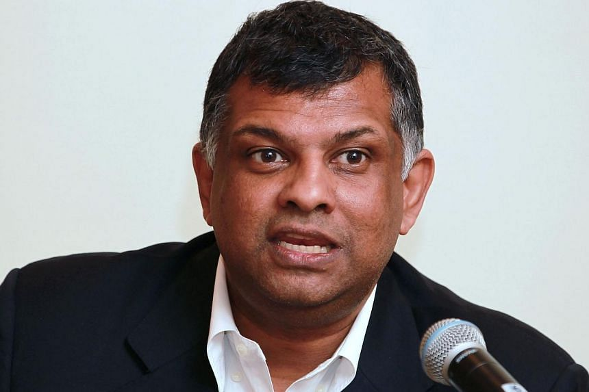 Tony Fernandes, chief executive officer AirAsia Bhd., speaks at the 2011 Forbes Global CEO Conference in Kuala Lumpur, Malaysia, on Sept. 14, 2011. -- PHOTO: BLOOMBERG