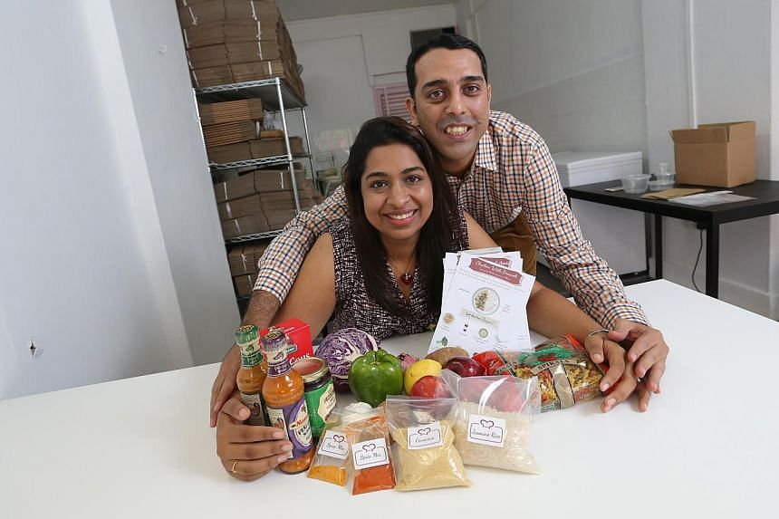 The Hungry Chef founders Ashutosh and Ruchi Ballal offer 20 dishes weekly.-- PHOTO: ONG WEE JIN