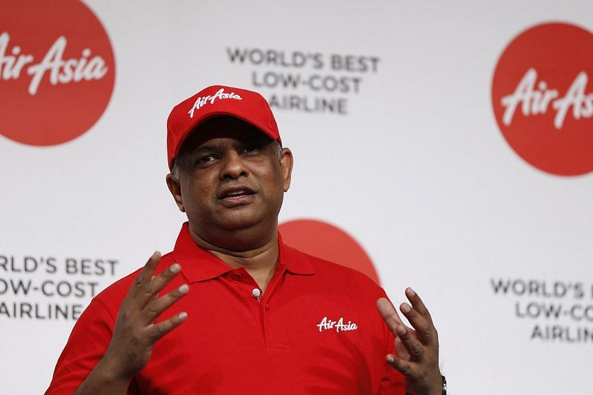 AirAsia CEO Tony Fernandes is heading to Surabaya to lend support for the search operation for missing Indonesia AirAsia flight QZ8501. -- PHOTO: REUTERS