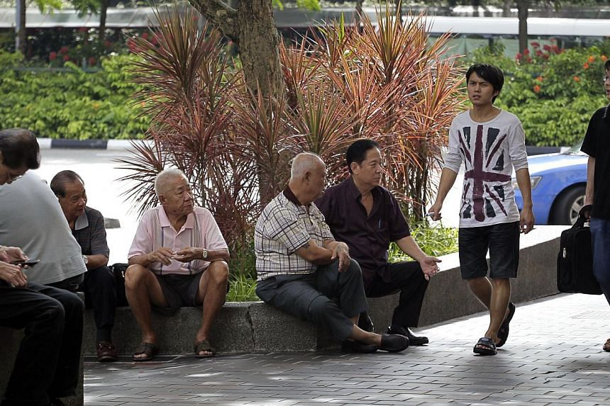 """Citing a recent trend of unhappiness between the elderly and the younger generation in Japan, Mr Lee said this serves as a """"cautionary tale"""" for Singapore. -- PHOTO: ST FILE"""