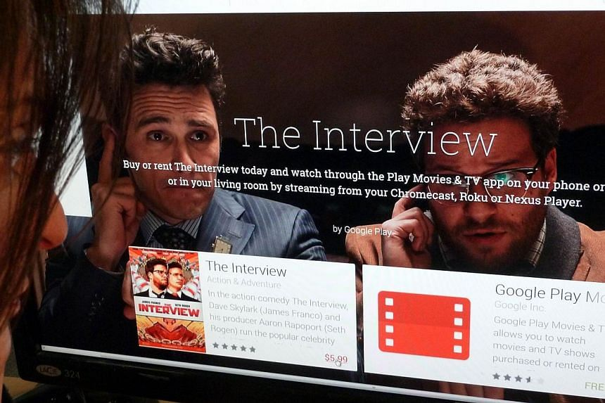 Sony Pictures said The Interview has earned more than US$15 million in online sales and another US$2.8 million in theatres, an impressive return made possible by the publicity surrounding the cyberattack blamed on North Korea. -- PHOTO: AFP