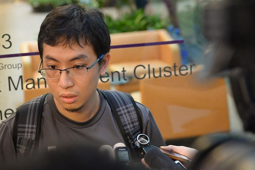 Mr Andy Paul Chen, whose girlfriend Florentina Maria Widodo was on the missing plane. -- ST PHOTO: NG SOR LUAN