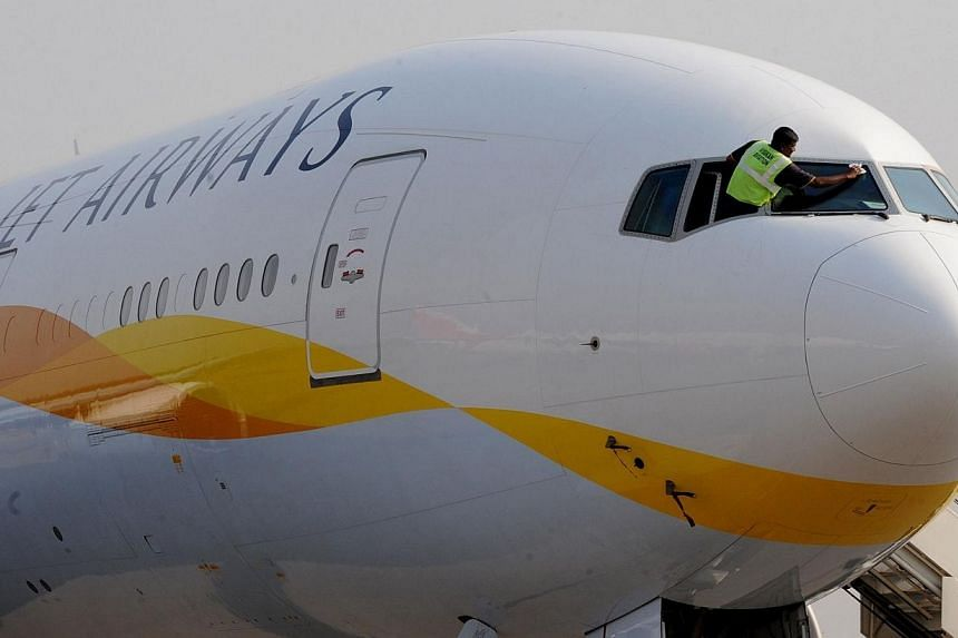 A Jet Airways plane with 125 passengers on board made an emergency landing at Kathmandu airport on Monday after a bird flew into its left engine, an aviation official said. -- PHOTO: AFP