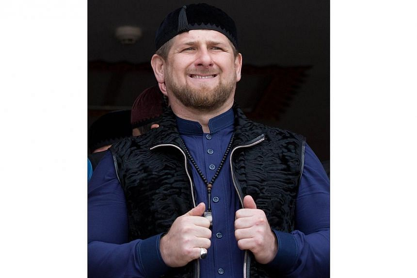 A file photo taken on March 23, 2014 shows Chechen President Ramzan Kadyrov attending the dedication ceremony of a new mosque in the Arab Israeli town of Abu Ghosh, west of Jerusalem. -- PHOTO: AFP