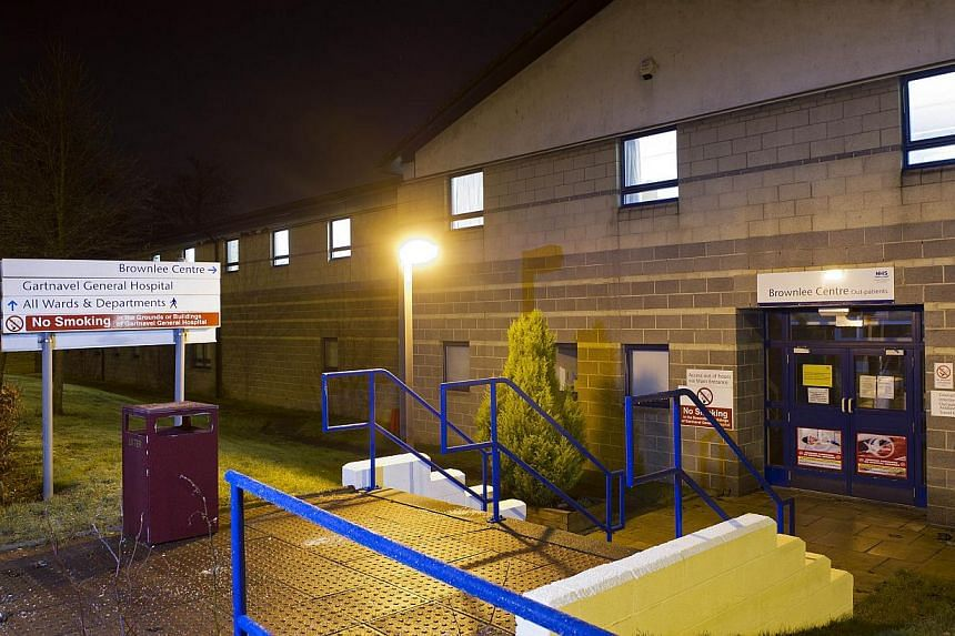 Exterior view of the specialist Brownlee Centre on the Gartnavel Hospital campus in Glasgow on Dec 29, 2014, where a health-care worker diagnosed with Ebola ia being treated. -- PHOTO: AFP