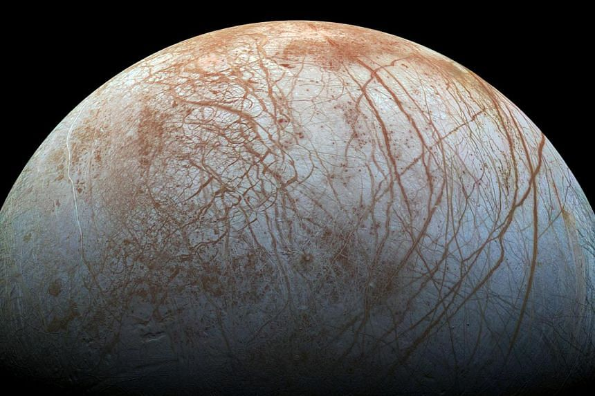 Jupiter's icy moon Europa is seen in thisNasa image from Nov 22, 2014.If the world's space agencies find a way to use the detector, it could be used to search for life on the moons of Jupiter or Saturn, or on Mars, where it might help sci