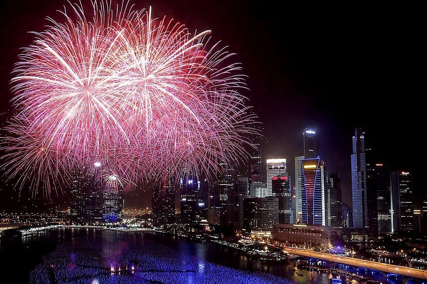 For those who want to catch as many New Year's Eve events as possible, the Marina Bay area is happy hunting ground. -- PHOTO: ST FILE