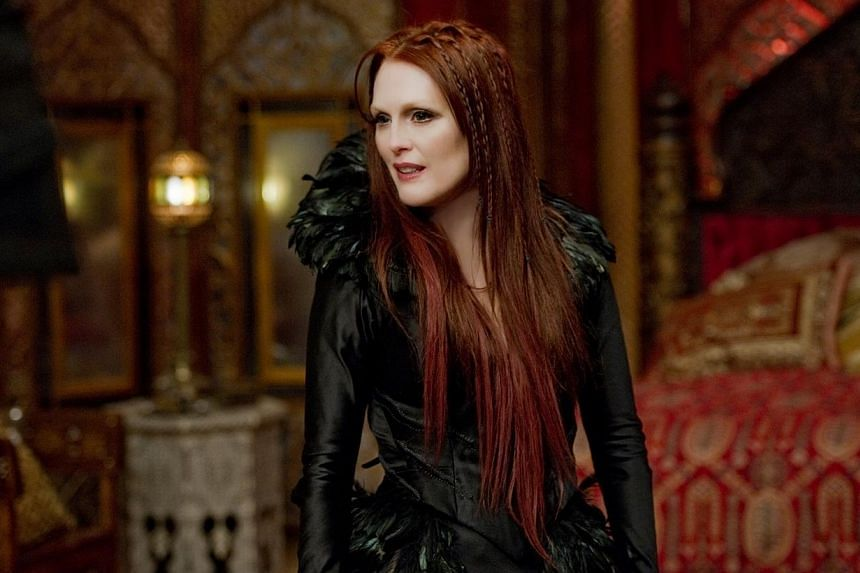 Roles Julianne Moore (left) has played include a witch in Seventh Son (main picture); American politician Sarah Palin (with co-star Ed Harris, top) in Game Change; and an unhappy housewife in The Hours (above).