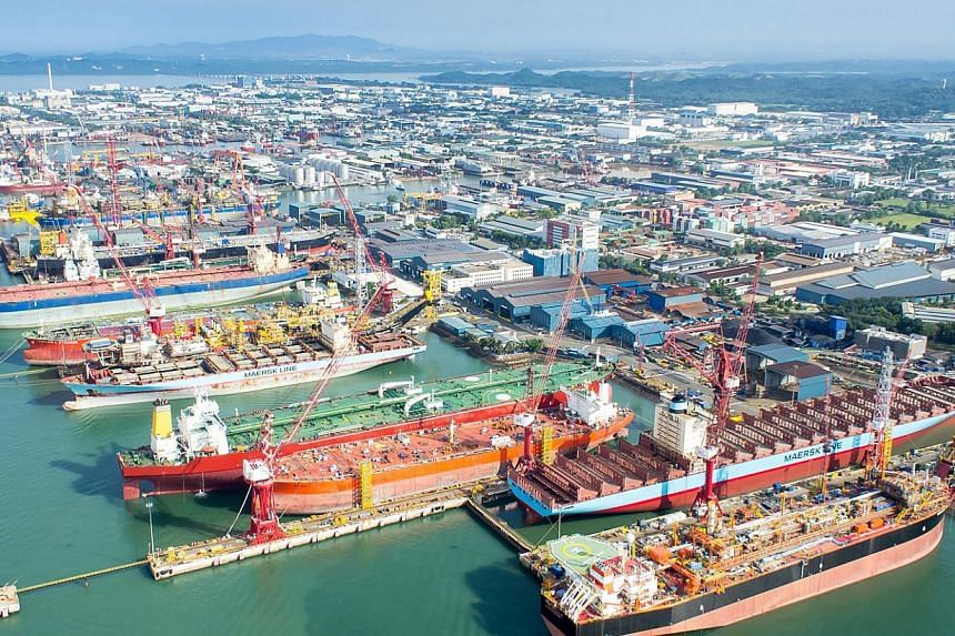 Keppel Shipyard has secured a US$705 million (S$932 million) ship conversion deal from Nasdaq-listed Golar LNG. -- PHOTO:KEPPEL