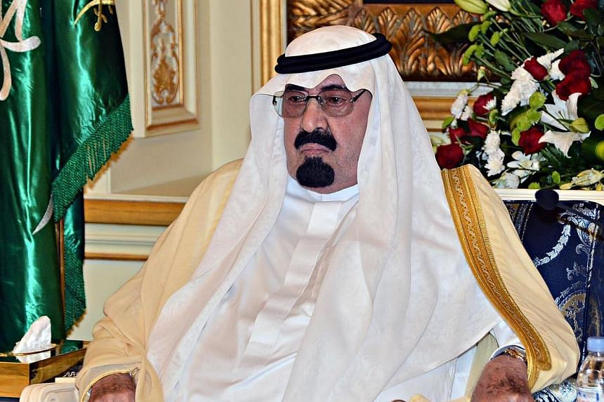 """Saudi Arabia's ailing King Abdullah, 91, was admitted to hospital on Wednesday for """"medical checks,"""" the royal court said. -- PHOTO: AFP"""
