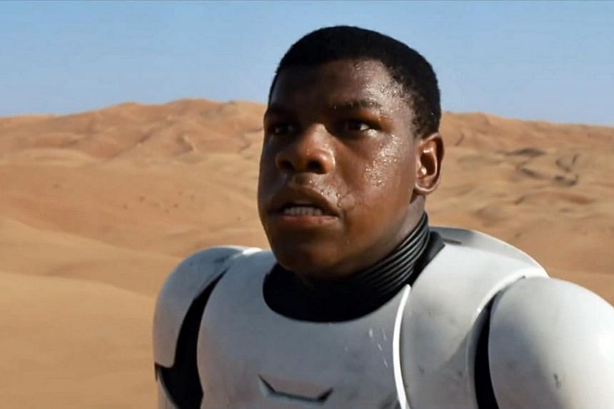 A cinema still from Star Wars: Episode 7 - The Force Awakens, starring John Boyega. -- PHOTO: WALT DISNEY PICTURES