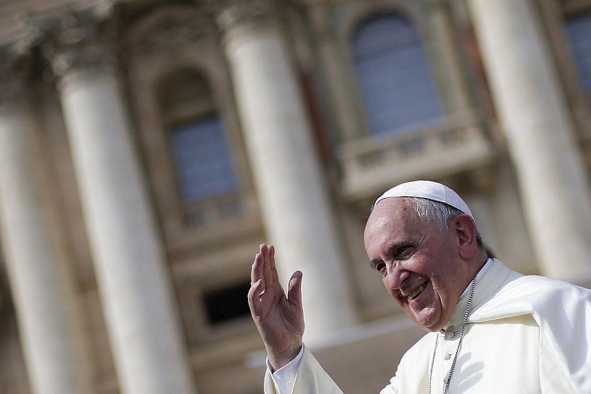 Pope Francis (above) has recorded a video message at the Vatican offering New Year greetings to two million revellers, including around 800,000 tourists, preparing to party on Rio's famed Copacabana beach as the city celebrates 450 years of existence