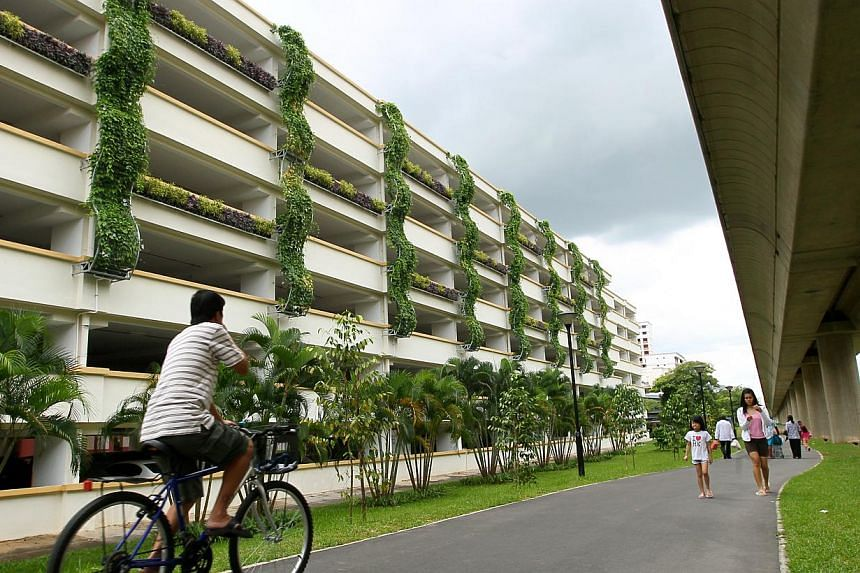 A multi-storey carpark in Sembawang. Soilbuild Construction Group has been awarded a $128 million contract by the Housing & Development Board (HDB) for building works in Sembawang. -- PHOTO: TNP FILE
