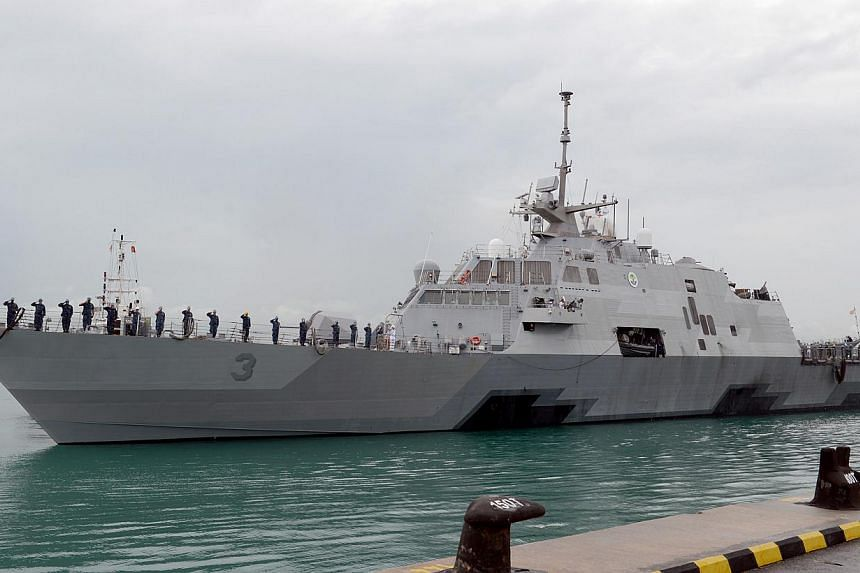The littoral combat ship USSFort Worth arrives in Singapore, on a 16-monthdeployment to 7th Fleet in support of the Asia-Pacific rebalance.The US Navy plans to send a second ship to help search for wreckage from an AirAsia jet that