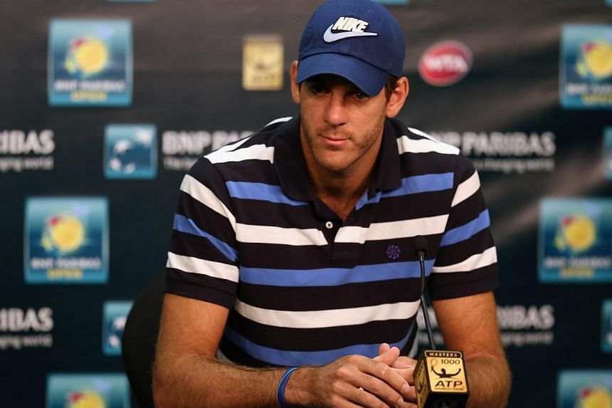 Former US Open winner Juan Martin del Potro has withdrawn from the Brisbane International, officials said on Thursday, further delaying his return to the tennis court from an injury-blighted 2014. -- PHOTO: AFP