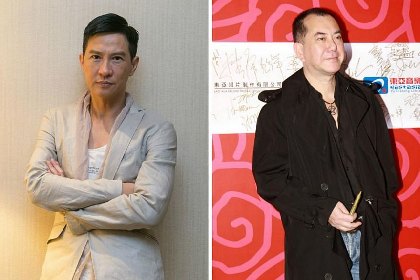 Actors Nick Cheung (left), an Asian Television (ATV) star for six years, and Anthony Wong, who was in the first batch of ATV training classes, voiced their concerns on Wednesday, Dec 31, 2014, amid news that the TV station was teetering on the brink