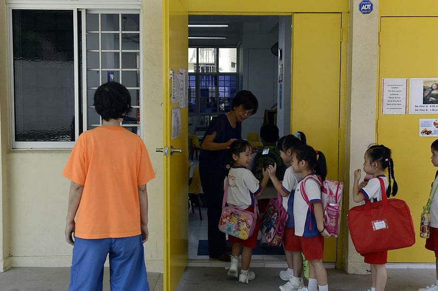 Small kindergarten operators will be encouraged to share resources to keep their costs down, Minister for Social and Family Development Chan Chun Sing told reporters on Friday. -- PHOTO: ST FILE