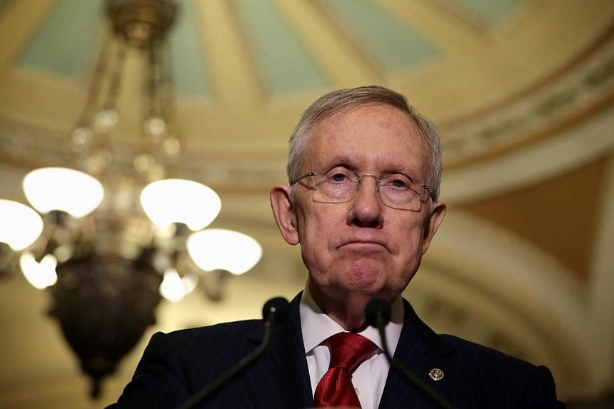 US Senate Majority Leader Harry Reid (above) suffered broken ribs and facial bones in an exercising accident at his Nevada home, his office said in a statement on Friday. -- PHOTO: AFP