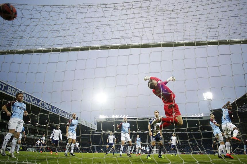 The first of seven goals scored by West Bromwich Albion against Gateshead on Jan 3, 2015. -- PHOTO: REUTERS