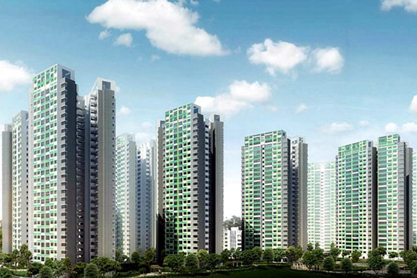 An artist's impression of Fernvale Lea in Sengkang.Upset about an upcoming columbarium close to their future flats, some would-be residents of Fernvale Lea have asked the Housing Board for a refund. -- PHOTO: HDB