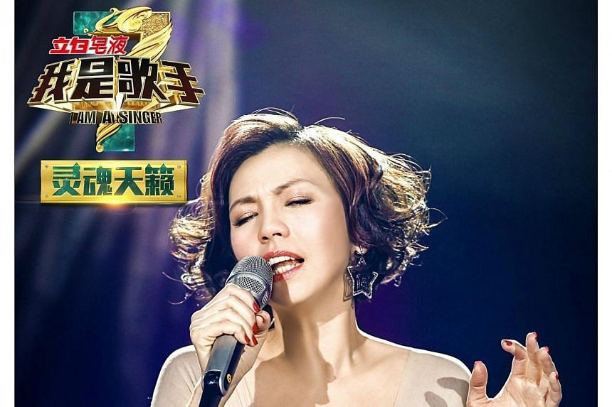 Kit Chan came in last in the debut of the third season of the Hunan TV contest I Am A Singer, but she is winning hearts in China. -- PHOTO:WEIBO.COM/IAMASINGER