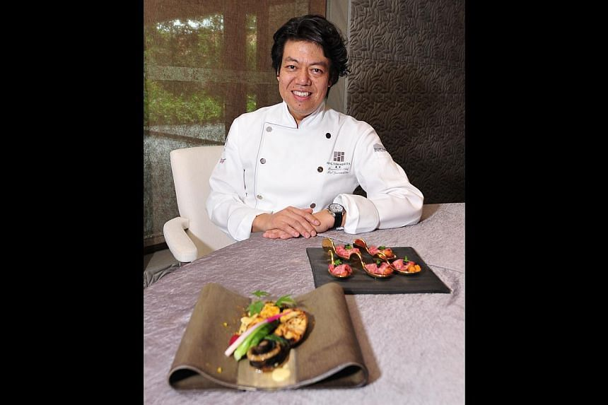 Chef Hal Yamashita, known for his nouvelle Japanese creations, will use top ingredients from Japan, such as sea urchin and Kuroge wagyu beef (below), as well as produce from around the region at his new restaurant Syun.