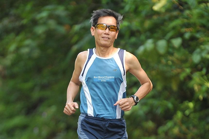 Ultramarathoner Lim Nghee Huat, plans to run the Brazil 135+ marathon in Sao Paolo from Jan 14 to 17 - at the age of 61 - to raise $150,000 for non-profit Christian housing organization Habitat for Humanity Singapore. -- PHOTO: ST FILE