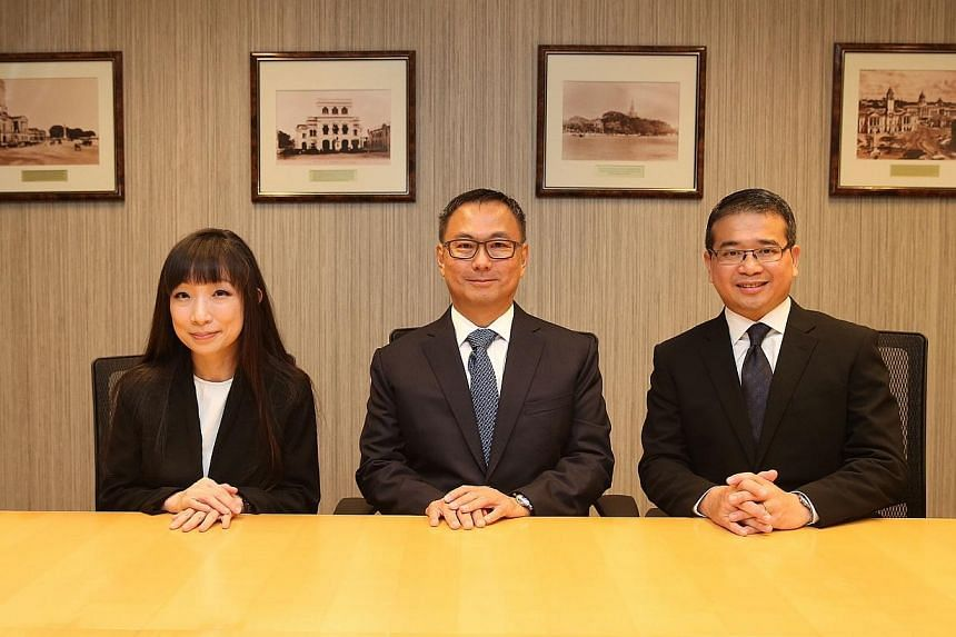 Chief Justice of Singapore Sundaresh Menon, on the occasion of the opening of the legal year, announced the appointment of four new Senior Counsels - (from left) Ms Mavis Chionh, Mr Tan Chuan Thye, Mr Edwin Tong, and Mr Lee Kim Shin (not in photograp