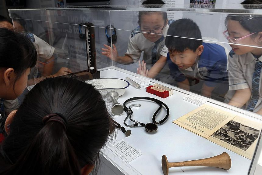 The National Heritage Board (NHB), in collaboration with the Museum Roundtable, has remodelled a truck and transformed it into a mobile dispensary which will house its travelling exhibition entitled 200 Years of Healthcare.-- ST PHOTO:LAU