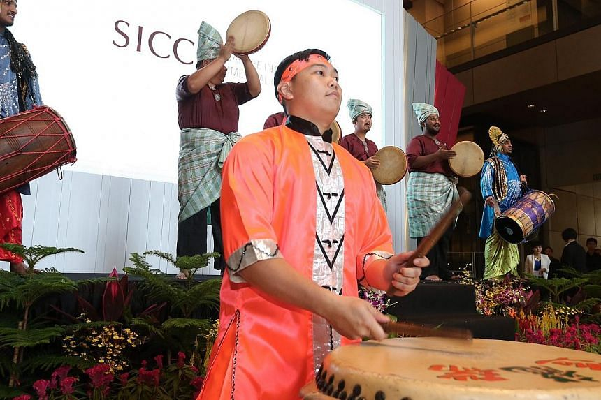 A performance at the opening of the new legal year.-- ST PHOTO: NEO XIAOBIN