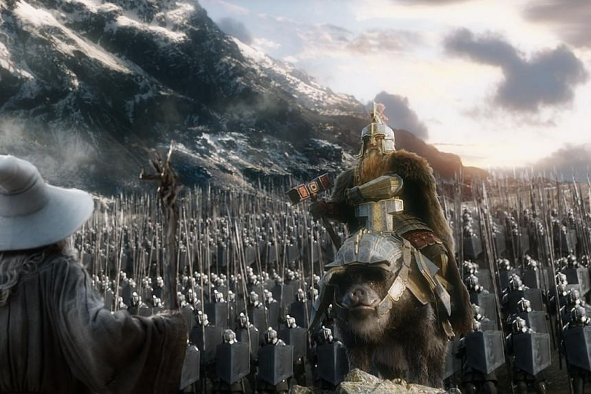Gandalf the wizard confronts the battle of the five armies in the last of director Peter Jackson's three films based on JRR Tolkien's The Hobbit. -- PHOTO: WARNER BROS
