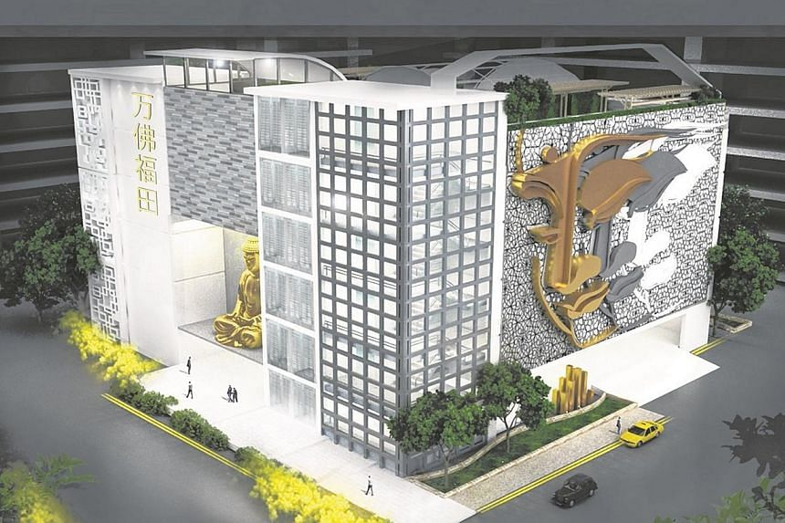 Artist's impression of the columbarium in Fernvale Link. Life Corp has affirmed to the Housing Board (HDB) its commitment to run a Chinese temple to serve the community at Fernvale Lea, the authorities said in a joint statement on Tuesday. -- PH