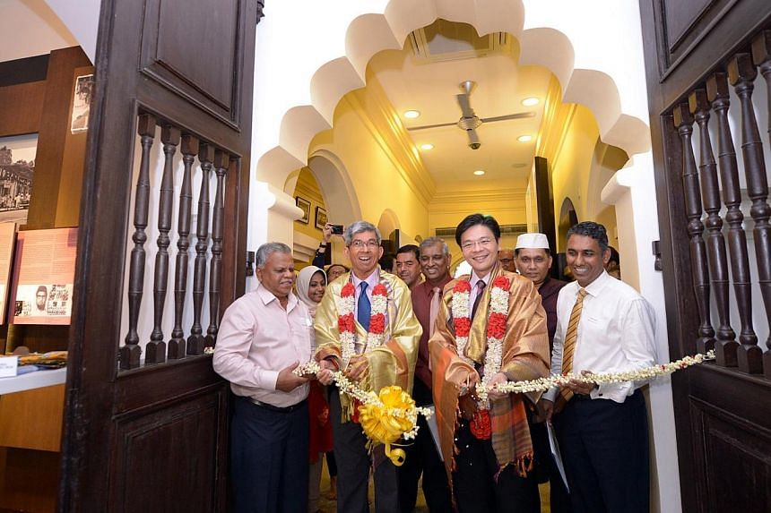The Nagore Dargah Indian Muslim Heritage Centre was unveiled by Lawrence Wong, Minister for Culture, Community and Youth and Second Minister for Communication and Information, and Dr Yaacob Ibrahim, Minister for Communication and Information and Mini