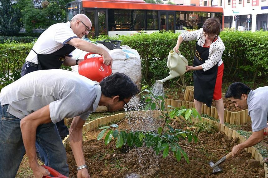 Grow, an initiative launched by Singapore Management University (SMU), focuses on green and sustainable efforts both inside and outside of the classroom. -- ST PHOTO: DANIEL NEO
