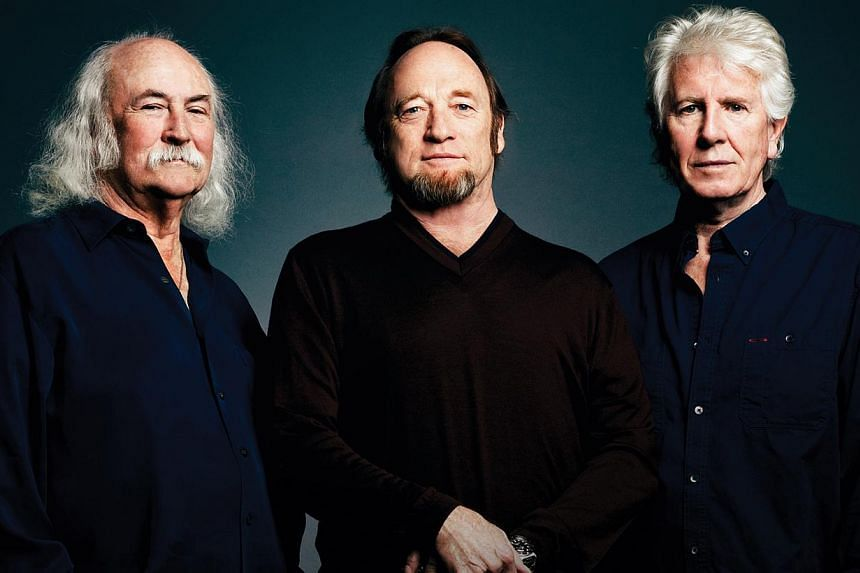 The concert in March will be the first time the iconic group Crosby, Stills & Nash, made up of (from left) David Crosby, Stephen Stills and Graham Nash, will perform in Singapore.-- PHOTO: ELEANOR STILLS