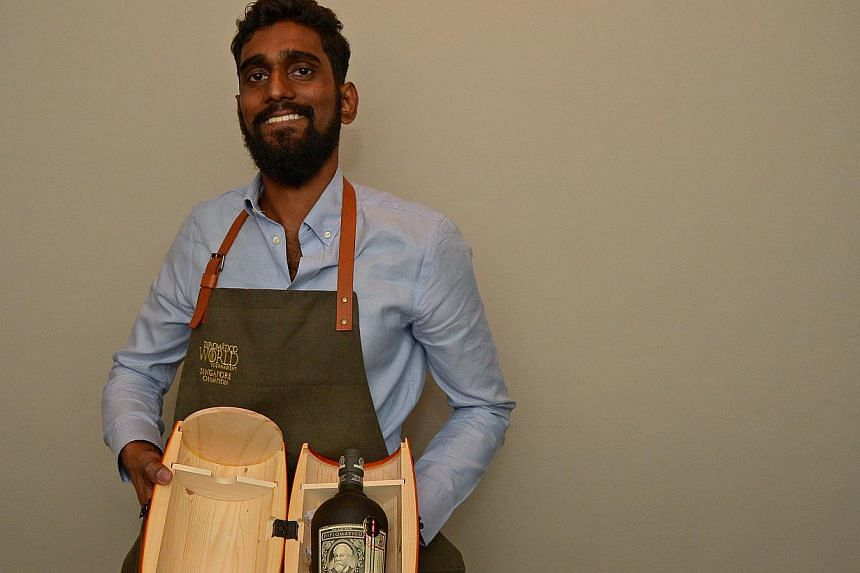 Bartender Vijay Mudaliar from Ann Siang Hill's Operation Dagger concocted arum-based cocktail, which was inspired by the Japanese occupation of Singapore in the 1940s, to beat eight other competitors at the Diplomatico World Tournament Singapor