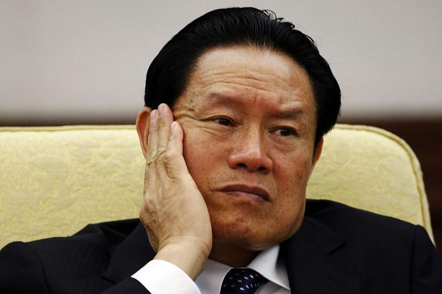 """The Chinese authorities have transferred former domestic security chief Zhou Yongkang's corruption case to """"judicial organs"""", paving the way for his trial, the party's anti-graft watchdog said on Wednesday, Jan 7, 2015. -- PHOTO: REUTERS"""