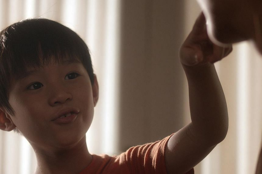 Xiao Le (Shawn Tan) is the little boy who dies in a car accident. -- PHOTO: GOLDEN VILLAGE