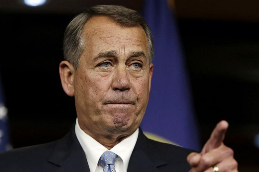 The US House of Representatives on Tuesday re-elected Republican John Boehner to serve a third term as Speaker of the chamber. -- PHOTO: REUTERS