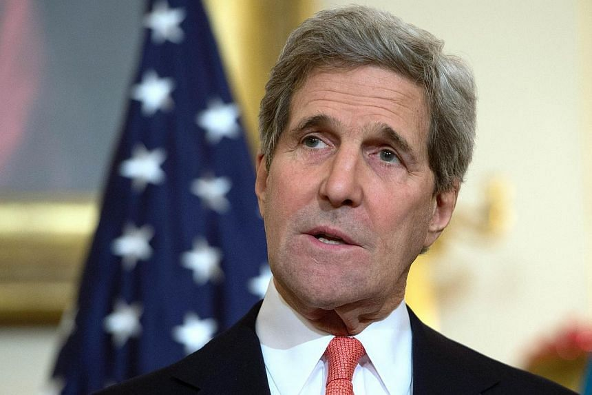 US Secretary of State John Kerry (above) will travel to India this week to join a key investment forum and pave the way for an upcoming visit by US President Barack Obama, an official said Tuesday. -- PHOTO: AFP