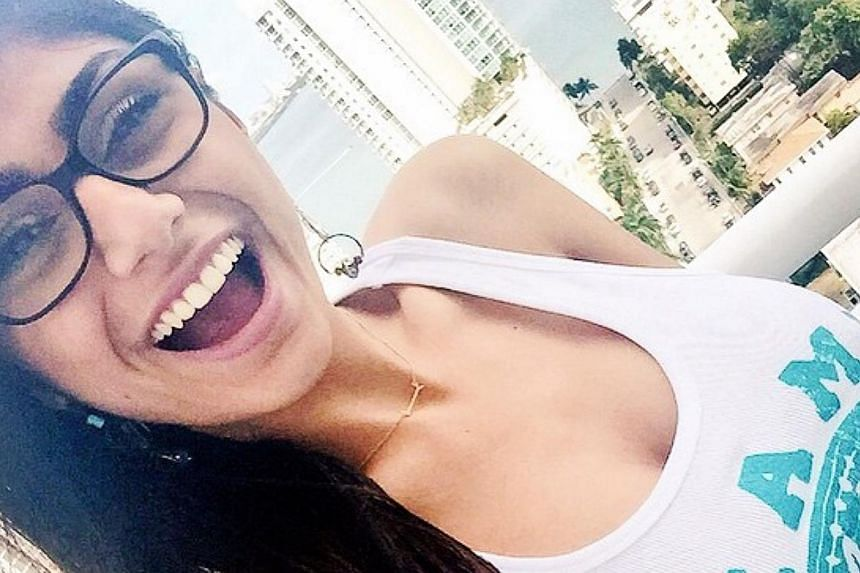 Lebanese-born porn star Mia Khalifa (above, in a picture posted to Instagram), who isliving in the US, has stirred fierce debate back home after her rise to fame split social media users in liberal-yet-conservative Lebanon. -- PHOTO: INSTAGRAM