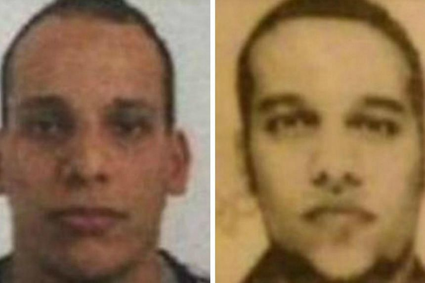 Cherif and Said Kouachi (left to right) have been identified by French police as two of the three gunmen in the terror attack. A third gunman, Hamyd Mourad, is not pictured here.