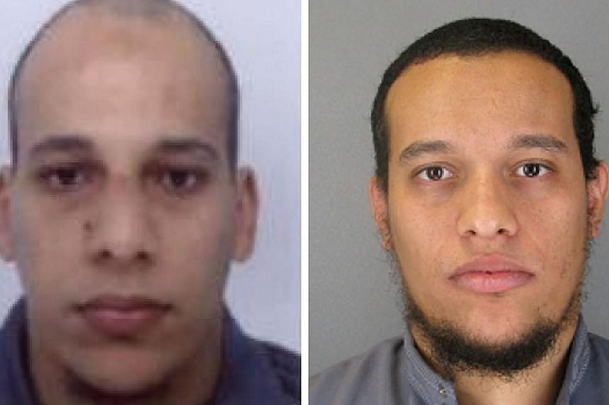 Paris shooting suspects Cherif Kouachi (left), aged 32, and his brother Said Kouachi (right), aged 34. Between 2003, when Cherif Kouachi delivered pizzas and dreamed of being a rap star, and Wednesday, when he and his brother were named chi