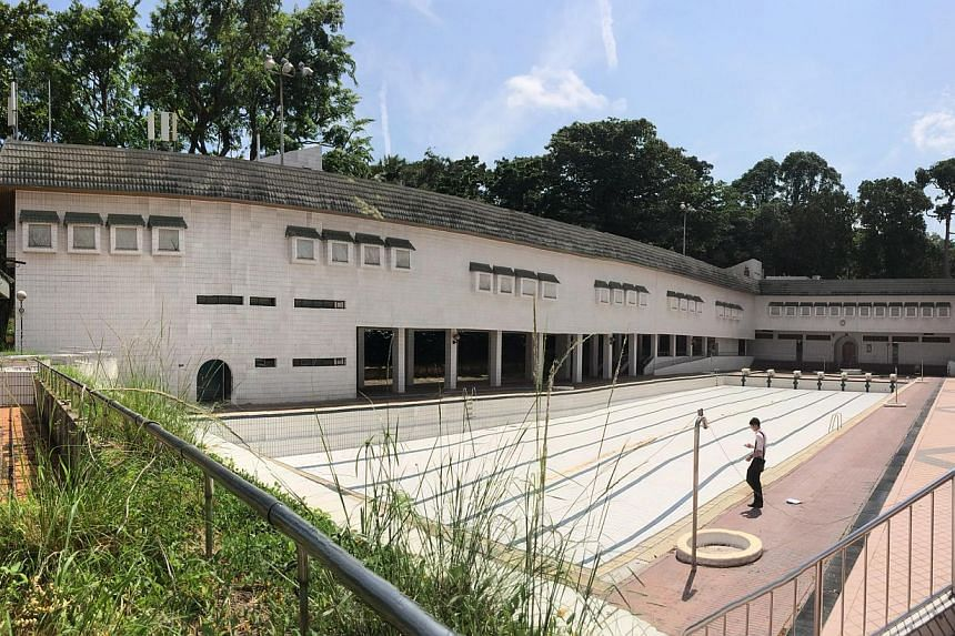 The former SIA Sports Club, including its drained pool, will host day-to-night arts festival Super 0 Openair. -- PHOTO: SUPER 0 OPENAIR