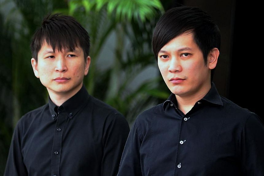 Mr Eldwin Chua (right), chief executive officer of the Paradise restaurant group, and his brother Edlan, who is the business' chief operating officer.