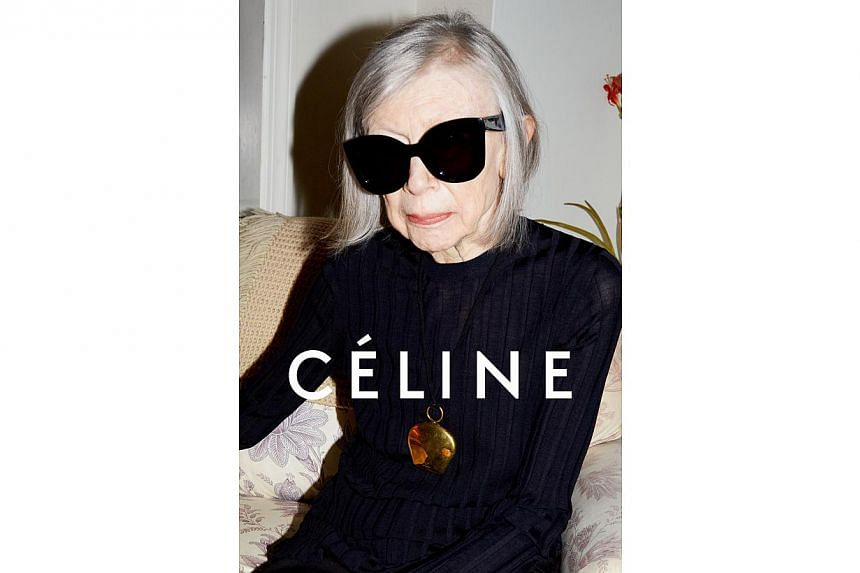 Writer Joan Didion, 80, stars in an ad campaign for fashion brand, Celine. -- PHOTO: CELINE