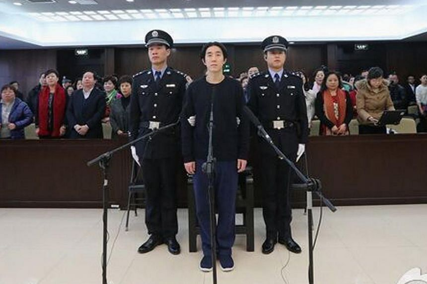A handout photo showing actor Jaycee Chan standing trial at a court in Beijing on Jan 9, 2015. -- PHOTO: REUTERS