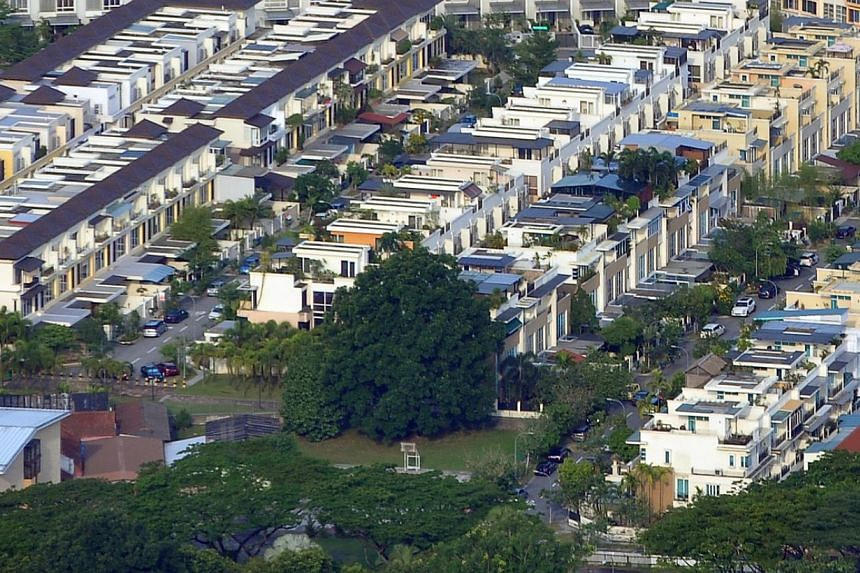 Lentor is among the nine private estates included in the latest round of the Government's Estate Upgrading Programme.-- PHOTO: ST FILE