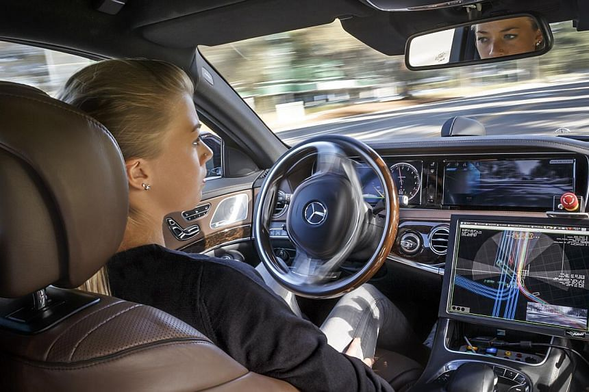 The Mercedes-Benz S500 Intelligent Drive is fully driverless. -- PHOTO: MERCEDES-BENZ