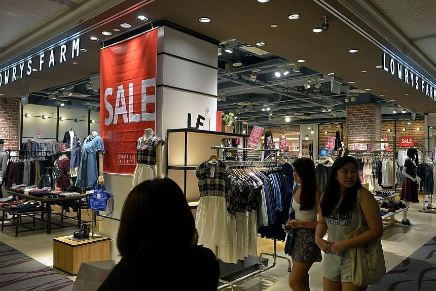 The Lowrys Farm outlet at 313@somerset. The parent firm is closing only its Singapore stores. Japanese skincare brand Fancl closed its 13 stores last March and lifestyle store Francfranc pulled out in May.